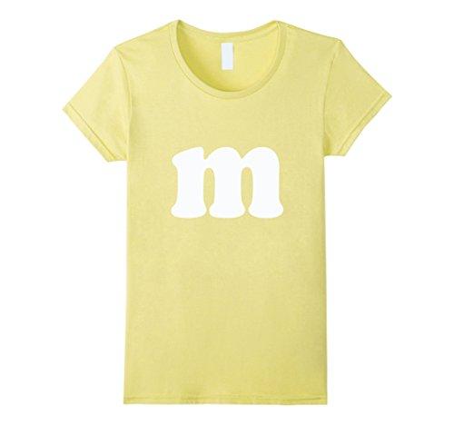 Womens Candy Halloween Costume M Letter TShirt, Great Colors Medium Lemon