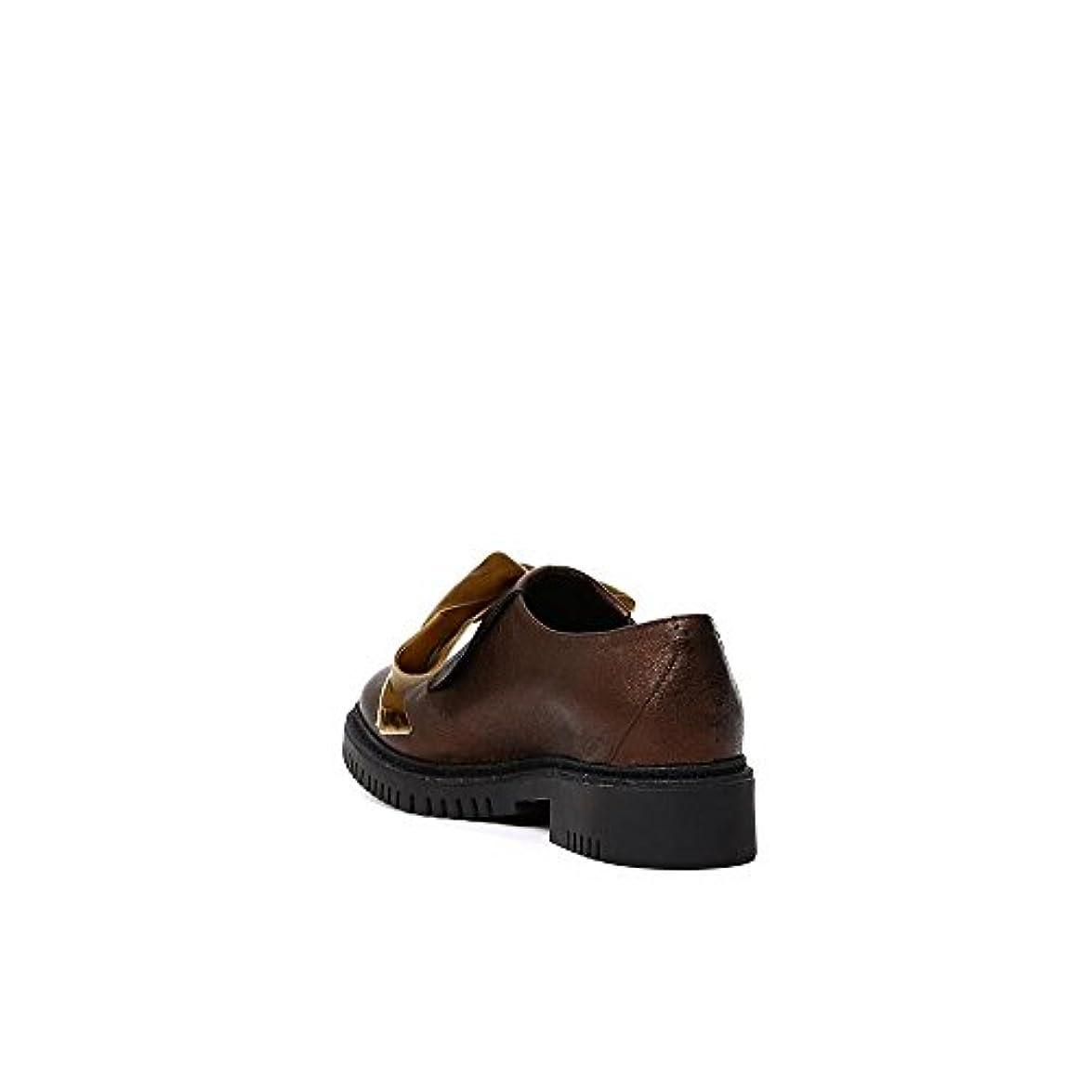 Maxi In Lea222 Occhielli Laminato Con Cafènoir Pantofola