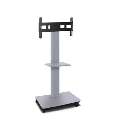"""Vizion TV/Monitor Stand and Mount AV Cart Size: 65"""" H x 36"""" W x 24"""" D, Finish: Silver -  Marvel Office Furniture, MVPFS6065ST"""