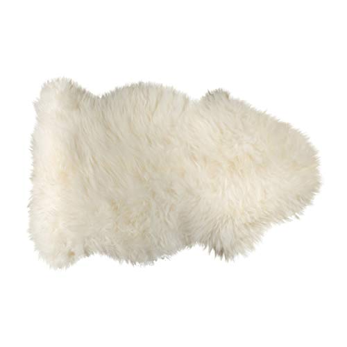 Natural Design Architecture Lifestyle N Natural Luxury Soft Premium Quality Durable Thick & Lush 100% New Zealand Sheepskin Wool Fur Area Rug, Natural, 2 ft x 3 ft