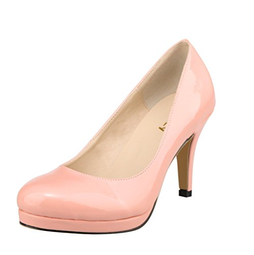 Rose OL 40 Escarpins Classique Taille 41 Confort wealsex cm Grande 42 Talon Moyen Vernis 5 Femme ZdBBq8HCw