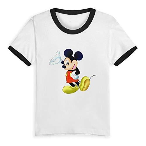 - WUWEIDONG Clipart-Snow-Mickey-Mouse-5 (1) Children's Short Pure Cotton Sleeve T-Shirt Baseball for Boys/Girls