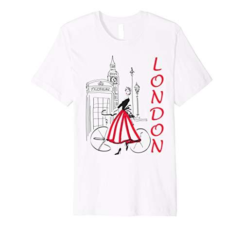 - London T-Shirt - woman - Big Ben shirt - Bicycle tshirt - 5