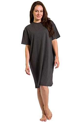 Fishers Finery Women's Tranquil Dreams Sleep Tee Comfort Fit, Heather Gray, Plus by Fishers Finery