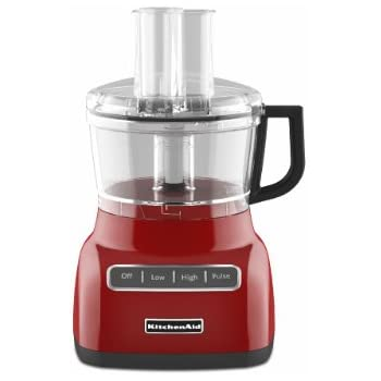 KitchenAid KFP0711ER 7 Cup Food Processor, Empire Red