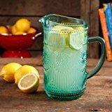 Dishwasher Safe Glass Pitcher (The Pioneer Woman Adeline 1.59-Liter Turquoise Glass Pitcher, Dishwasher Safe)