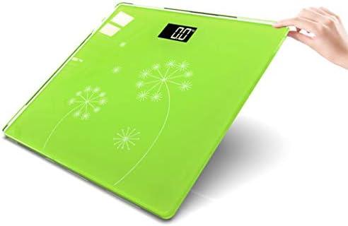 CCJW Bilancia pesapersone Digitale di Semplice Gusto con Display Grande retroilluminato, Verde