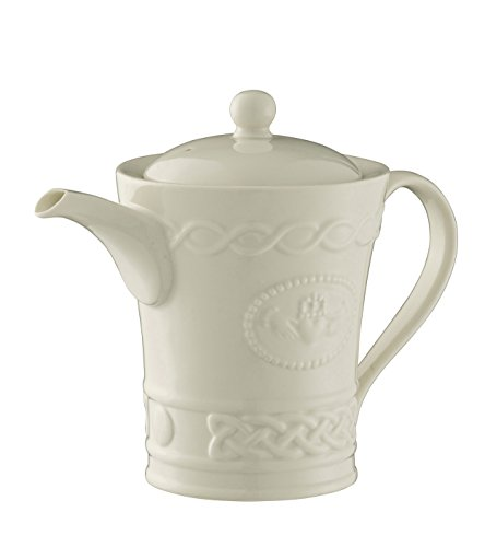 Belleek Pottery Claddagh Beverage Pot, White