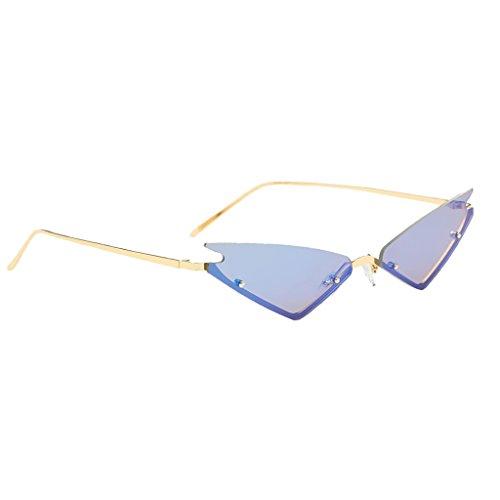 Conducción Ede DOLITY Sol de Lente Mujer de para de Vintaje Rosado Viaje UV400 Gato Gafa Ojos Triangular Azul Hombre D Espejo PqdwxUEtU
