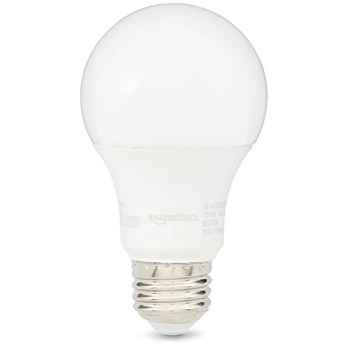 AmazonBasics 75 Watt 10,000 Hours Non-Dimmable 1050 Lumens LED Light Bulb - Pack of 16, Soft White