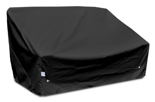 KoverRoos Weathermax 76350 Deep 2-Seat Sofa Cover, 58-Inch Width by 35-Inch Diameter by 32-Inch Height, Black by KOVERROOS