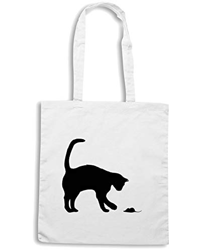 Shopper AND DOMESTIC Borsa CAT Bianca MOUSE WES0589 d1dAHR