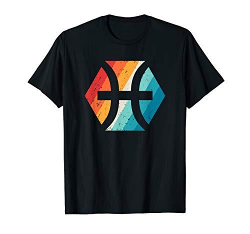 Pisces Zodiac Sign T Shirt Retro Astrology Birthday Gift