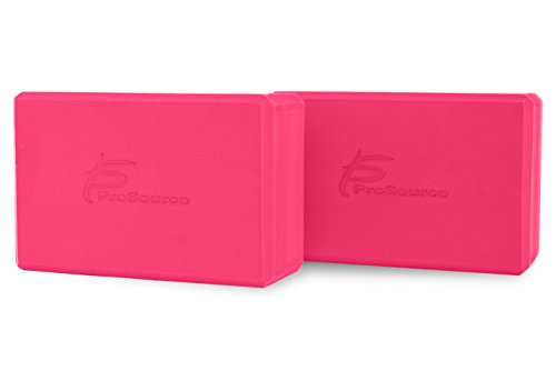 ProSource Foam Yoga Blocks provide support and help extend your reach in challenging yoga poses. Ideal for beginners or anyone trying to increase flexibility