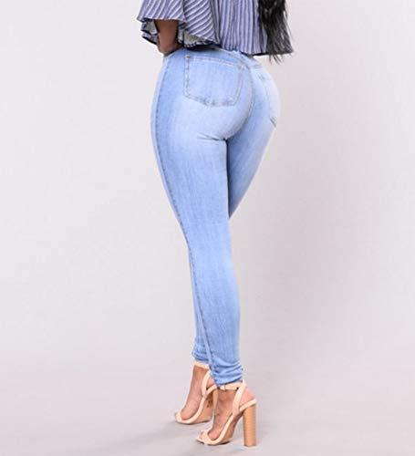 Slim Jeans Comme Yujeet Dcontracte Droit Mode Dchir Femmes Pantalon Coupe Image Crayon Denim Confortable Serr fwOIxHnSO