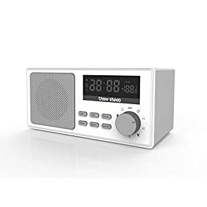 Three Sheep White Noise Sound Machine Portable Sleep Therapy for Adult with 9 Sounds and Auto-Off Timer,Alarm Clock for Home, Office, Baby Room,Travel