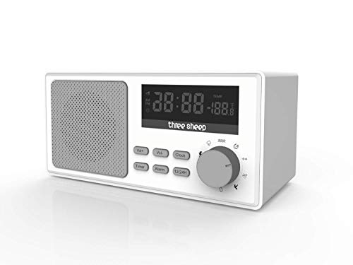 Three Sheep White Noise Sound Machine Portable Sleep Therapy for Adult with 9 Sounds and Auto-Off Timer,Alarm Clock for Home, Office, Baby Room,Travel (Sleep Sheep Sound Machine)