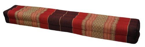 Thai cushion bolster , pillow, sofa, imported from Thaïland, burgundy/red, relaxation, beach, pool, meditation garden (82311) by Wilai GmbH
