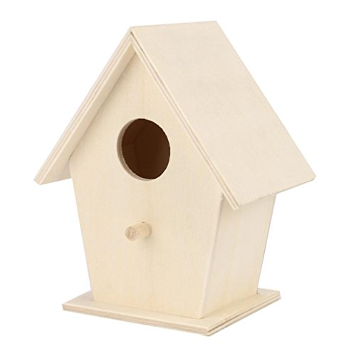 (Yeefant 1Pcs Creative Wall Mounted Nest Bird House Wooden Outdoor Box,0.39x0.31 Ft)