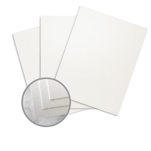 CLASSIC Linen White Pearl Card Stock - 18 x 12 in 115 lb Cover Linen Digital C/2S 250 per Package by Neenah Paper CLASSIC Linen