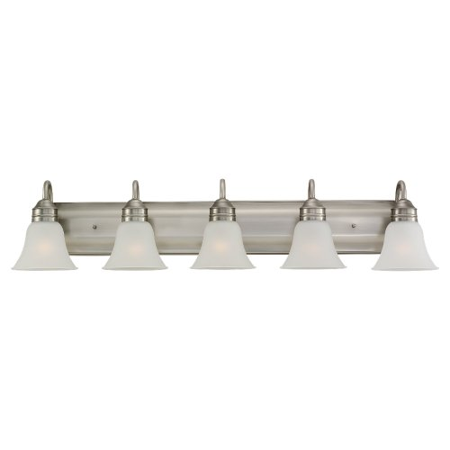 Sea Gull Lighting 44854-965 Gladstone Five Light Wall/Bath Vanity Style Lights, Antique Brushed Nickel Finish
