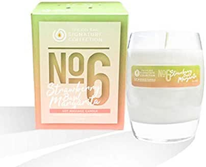 The Oil Bar No.6 Strawberry Basil Margarita Soy Massage Candle