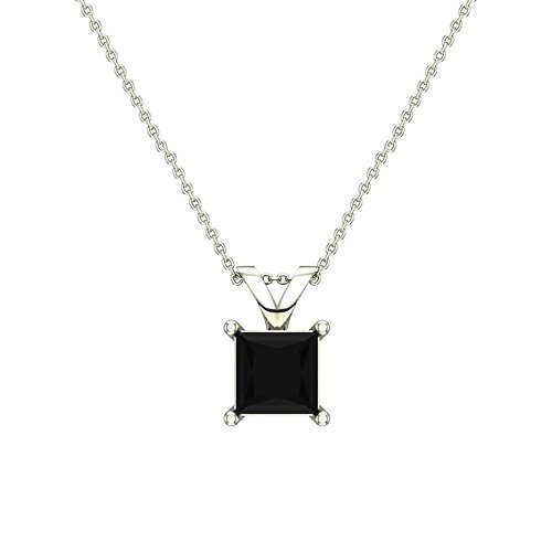 1-2-ct-tw-natural-black-natural-princess-cut-diamond-solitaire-pendant-necklace-14k-white-gold