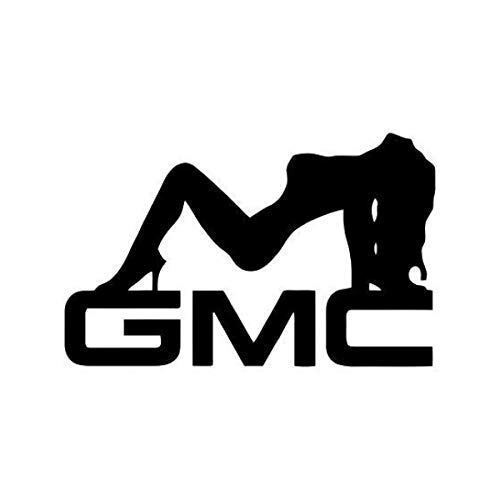 Sexy Girl Silhouette With Gmc Emblem Decal (10 Sizes and 20 Colors) 021