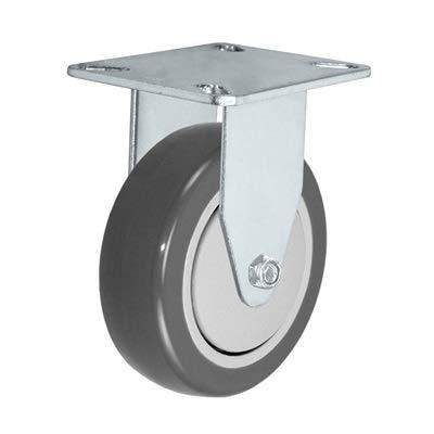 3 X 1-1//4 Rigid Caster Plate Size: 3-1//8 X 4-1//8 CasterHQ 250 LBS Capacity Gray Polyurethane ON POLYOLEFIN CORE Wheel