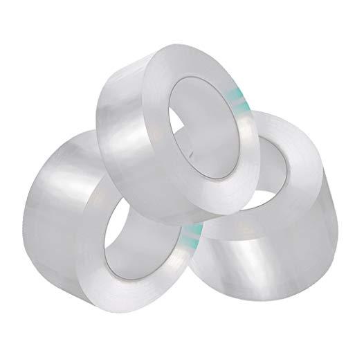 SAQIMA Transparent Acrylic Waterproof Mildew-Proof Self-Adhesive Tape Kitchen Sink Corner Line Tape Home Bathroom Improvement (D:3x300cm&5x300cm&8x300cm)