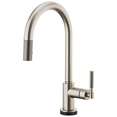 Brizo 64043LF-SS Litze Smarttouch Pull-Down Faucet with Arc Spout and Knurled Handle In Stainless Steel ()