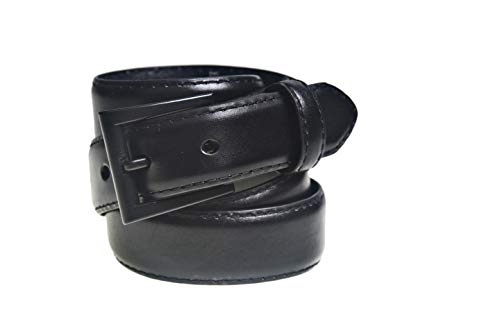 (Standard 30 mm Black Leather Belt 38-40 by Beep Free-Airport Friendly Nickle Free Buckle)