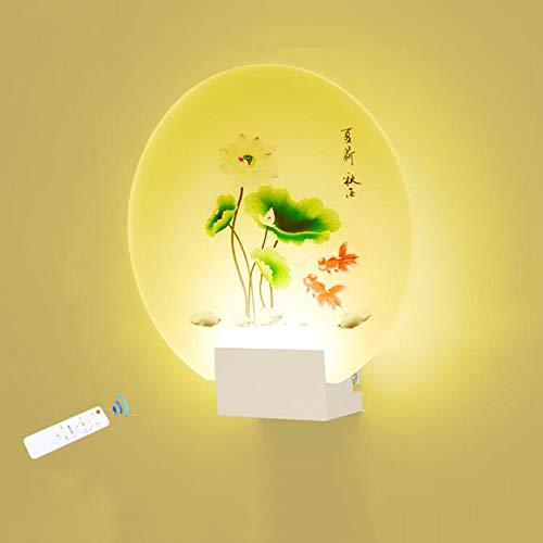 LED Wall Lights Creative Acrylic Modern Wall Lamp 8W Pond Fish Decoration 3000K-4500K Remote Control Wall Wash Light for Living Room, Bedroom, Hallway, Bathroom [Energy Class A+] ()