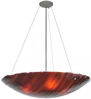 Meyda Tiffany 106257 Torta Fused Glass Inverted Pendant Fixture, 30 Width