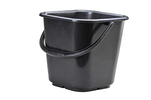 Industrie-Eimer/ Abfallbehä lter (HD-PE) mit Tragebü gel, sehr Gute Chemiebestä ndigkeit, eckig, 14 Liter, Made in Germany HNERT 943300