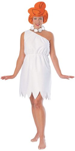 Fred And Wilma Flintstone Costumes (The Flintstones Wilma Flintstone Costume, White, Standard)