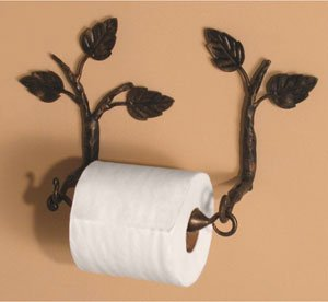 Aspen Wall Mounted Toilet Paper Holder Finish: Black