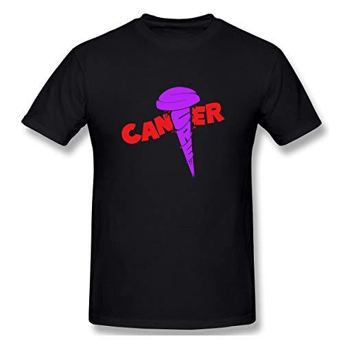 (Atunme Screw Cancer Men's Crew Neck Short Sleeve T-Shirt Black)