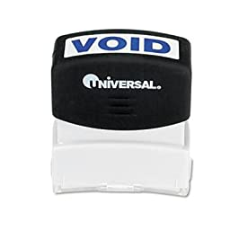 Universal - 4 Pack - Message Stamp Void Pre-Inked/Re-Inkable Blue \