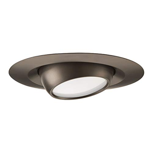 Progress Lighting P8046-20-30K Led Recessed 4-Inch LED Eyeball Trim, Antique - Kit Bronze Antique Trim