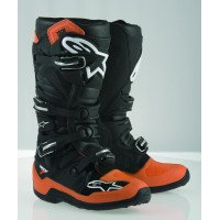 Alpinestars Tech 7 Men's Off-Road Motorcycle Boots - Orange/Black/White / 10