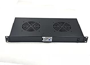 Rising Rack Mount Temperature control Server Fan Cooling System With 2 Fans 1U