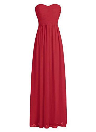 Dressystar Robe de demoiselle d'honneur/de soirée longue formelle Taille 54 Rouge Foncé