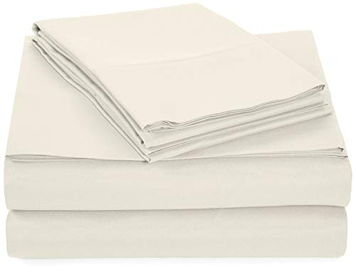 Camper Full (Microfiber RV Sheet Sets, 48x75 3/4 Full Bunk, Ivory Solid, Bed Sheets for Campers, RV's & Travel Trailers Fit Mattress up to 8 Inch deep)