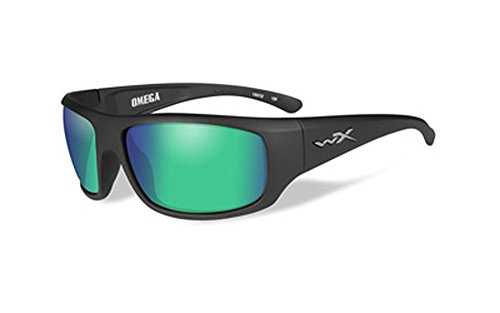 Wiley X Omega Emerald Polorized Tactical Sunglasses, Black Matt - Sunglasses Wiley X Polarized Omega