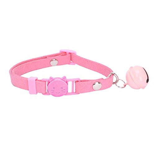 Price comparison product image FORESTIME LED Dogs Pet Security Collar Rope Flashlight Belt Simple Adjustable Dog Harness (pink, one)