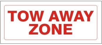 Noticester RS-15251 Tow Away Zone Regulatory Signs - 6X12 Inch Aluminum Pack of 5