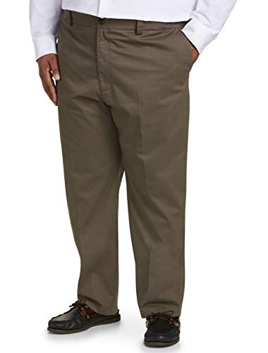 Amazon Essentials Men's Big & Tall Relaxed-fit Wrinkle-Resistant Flat-Front Chino Pant fit by DXL, Taupe 50W x 32L