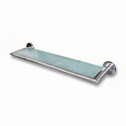 Edelstahl Badablage Mit Glasboden 50 Cm Glasablage Bad