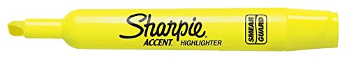Sharpie 25025 Tank Highlighters, Chisel Tip, Fluorescent Yellow, 12-Count by Sharpie (Image #2)